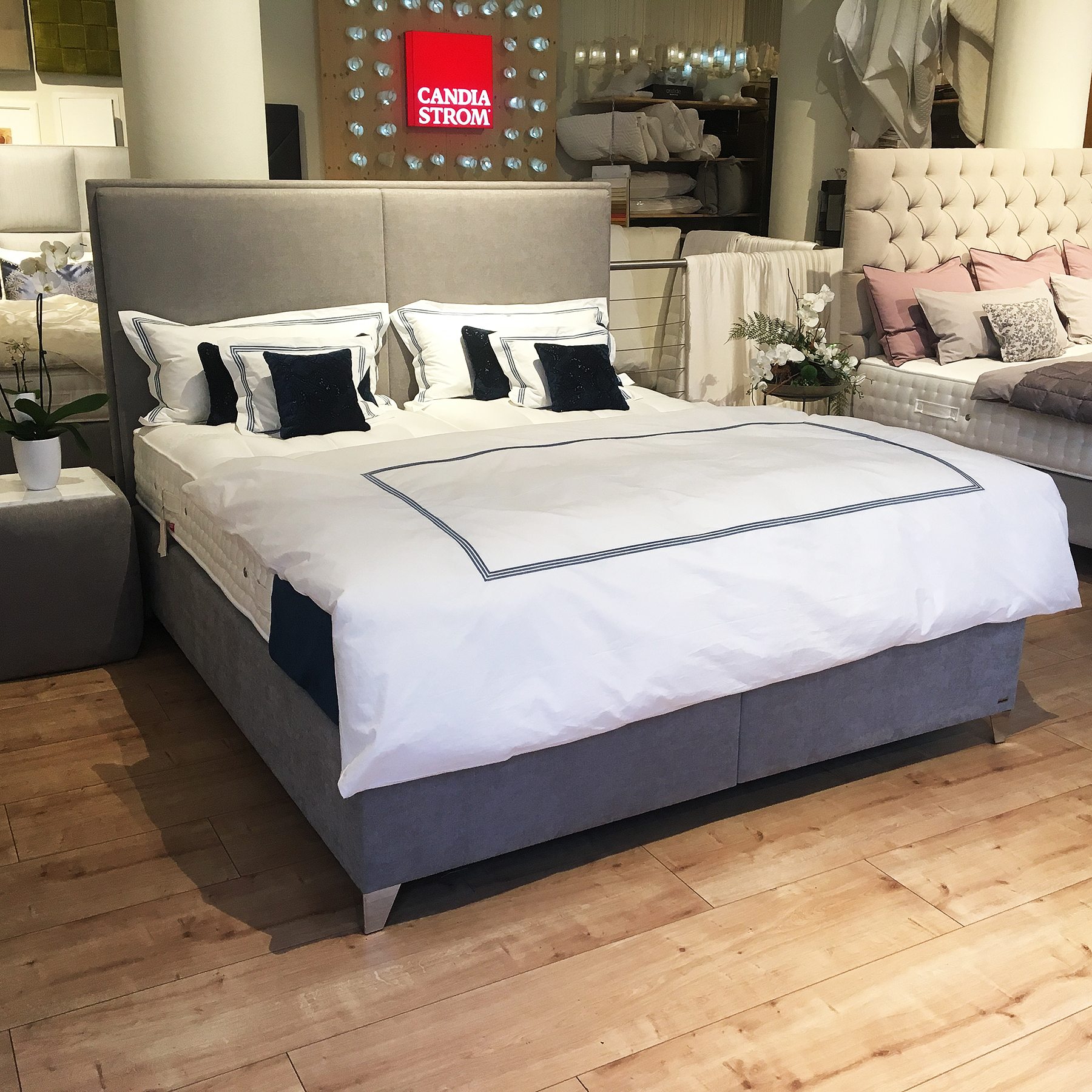 ausstellungsst ck boxspringbett la paz luxus. Black Bedroom Furniture Sets. Home Design Ideas
